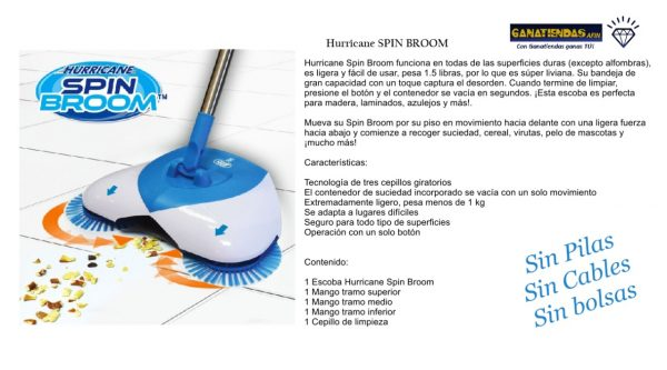 HURRICANE SPIN BROOM MODERNO LIMPIA PISOS